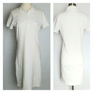 Brooks Brothers women's white polo shirtdress M